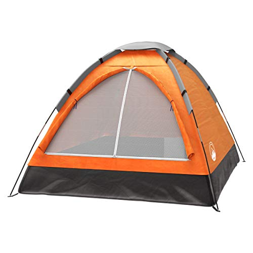 2-Person Dome Tent- Rain Fly & Carry Bag- Easy Set Up-Great for Camping, Backpacking, Hiking & Outdoor Music Festivals by Wakeman Outdoors 1