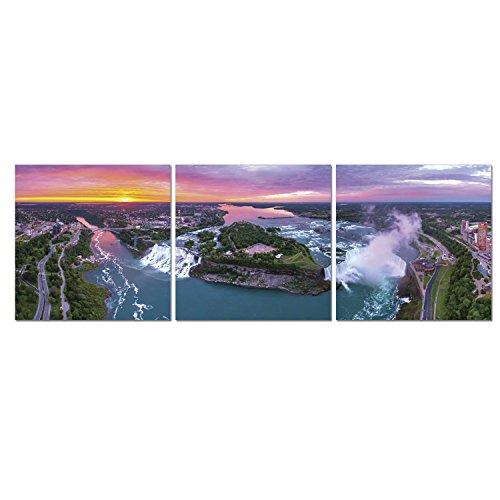 FURINNO Senic Niagara Falls 3 Panel Canvas on Wood Frame, 60