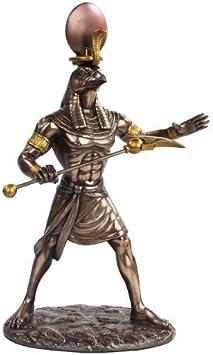 PTC 27,9 cm Egipcio RA mytholo Estratégica Dios Acabado de Bronce Estatua Figura: Amazon.es: Hogar