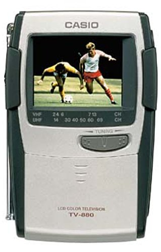 "Casio TV-880 2.3"" Portable Handheld Color TV"