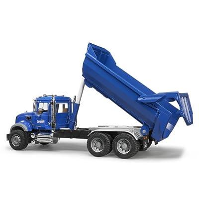 Bruder MACK Granite Halfpipe Dump Truck: Toys & Games