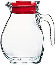 Bormioli Rocco Kitchen Accessories Jug Glass Table 144 CL Carafe with Stopper Red