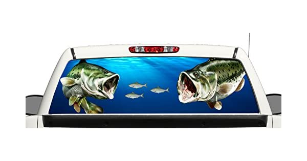 Amazon.com: Camión SUV Largemouth Bass atacando Shad Rear ...