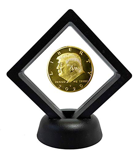 Donald Trump Gold Commemorative Coin with Display Case, Gold Plated Collectible Coin of 45th President of The United States