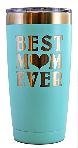 Engraved BEST MOM EVER Stainless Steel Travel Tumbler - Choice of Colors