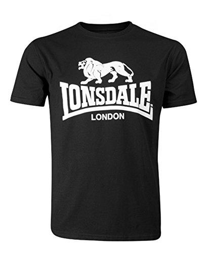 Classic Fit Logo T-shirt - Lonsdale Men´s Regular-Fit Classic Lion Logo T-Shirt Black (XXX-Large (3XL))