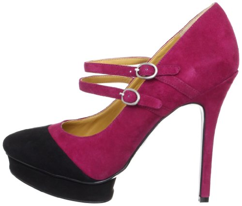 NINE WEST - Mujer Correa Doble Pumps NWARGILE RED BLK Tacón: 13 cm