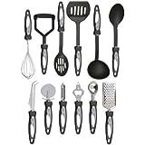 Vivo © 12pc Stainless Steel Cooking Utensil Set Kitchen Gadget Tool Nylon Handles Dishwasher Safe