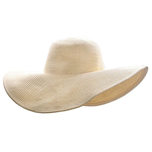 Ayliss Women Floppy Derby Hat Wide Large Brim Beach Straw Sun Cap