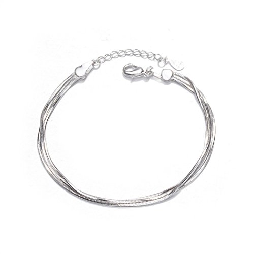 YouCY Simple Snake Bone Bracelet Fashion Hot Women Multi-Layer Octagonal Chain Jewelry Wrist Bracelet