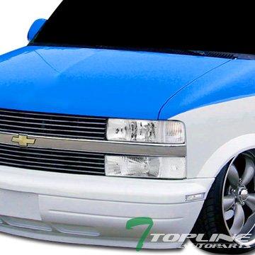 Topline Autopart Chrome Clear Signal Blinkers Parking Bumper Lights Lamps For 95-05 Chevy Astro Van/GMC Safari ()
