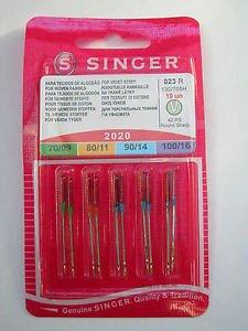 """Agujas Singer Variadas Universales - Maquina de coser """"Un lado ..."""