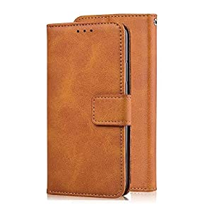 ClickCase Dual Tone Vintage Series, Faux Leather Wallet Flip Case Kick Stand Magnetic Closure Flip Cover for Samsung…