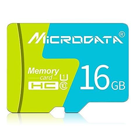 Alta calidad Tarjeta de memoria 16 GB U1 azul y verde TF ...