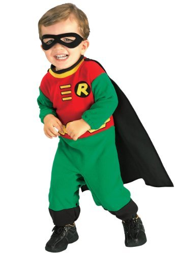 Baby Holloween Costumes (Teen Titans Robin Baby Infant Costume Accessory - Newborn)