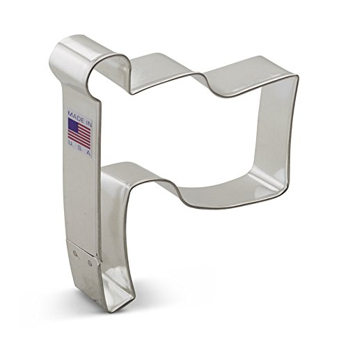 Flag Cookie Cutter - Ann Clark Flag Cookie Cutter - 4.25 Inches - Tin Plated Steel