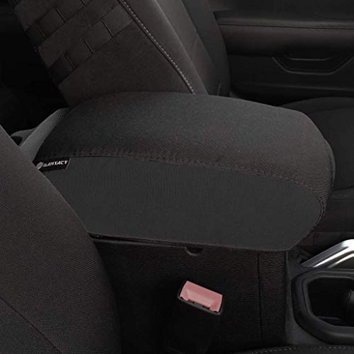 Bartact 2018-2019 Jeep Wrangler JL and JLU Center Console Cover (Black,Black) ()