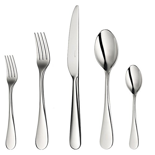 Christofle Mirror - Christofle Stainless Steel Origine 30pc Set Includes 6 x 5pc Place Settings #2451830 + Chest Case