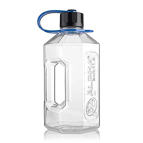 Alpha Bottle XXL - 2400ml Water Jug/Gym Bottle - BPA Free (Blue / - Jug Shaker