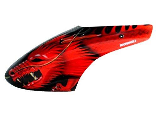 Microheli Airbrush Fiberglass Red Dragon Canopy - BLADE 130X