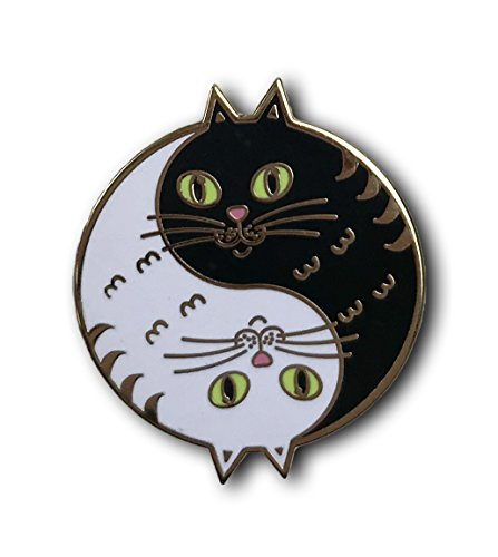 Enamel Cat Pin (Balanced Co. Yin Yang Cat Enamel Pin)