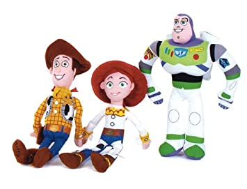 Posh Paws International 23014 - Disney Toy Story, set de 3 peluches (Woody,