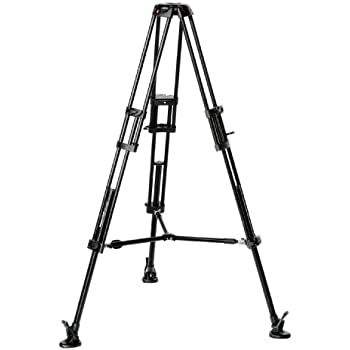 Manfrotto 546B Twin Leg Video Tripod with Mid Level Spreader (Black)