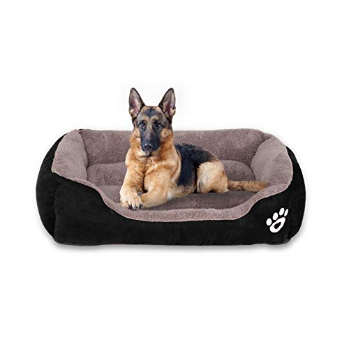 Utotol Warming Dog Beds, Rectangle Washable Pet Bed with Firm Breathable Cotton for Cats, Sleeping Orthopedic Bed