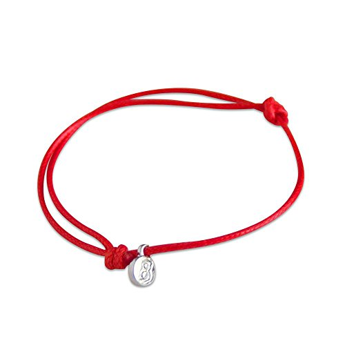 st8te - Adjustable Slim Rope Bracelets for Men & Women. Charm Bracelets with Several Color Finishes. Hair Tie Size, Fit (Red Silver)