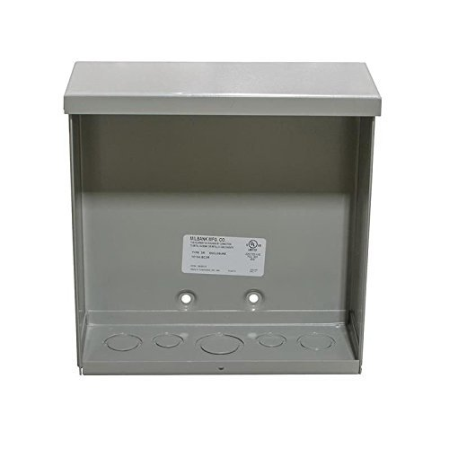 Milbank 10104-SC3R NEMA 3R Polyester Powder Coated Galvanized Over Phosphatized Steel Unflanged Screw Cover Junction Box 10 Inch x 10 Inch x 4 Inch ANSI 61 Gray
