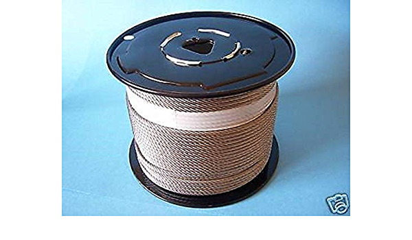 304 Stainless Steel Cable Wire Rope 5//32 7x19-25 500ft Reel 250 100 500 /& 1000 ft 50