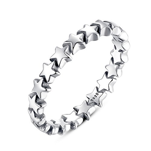 [PSRINGS 925 Sterling Silver 6 Style Stackable Party Rings Compatible with WOS Jewelry Fine 9.0] (Ninja Turtle Nose Costume)
