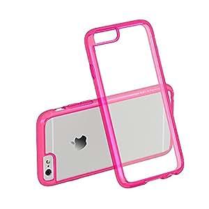 Luvvitt Carcasa transparente para iPhone 6S y 6, antigolpes, antiarañazos, compatible con Apple iPhone 6, color naranja