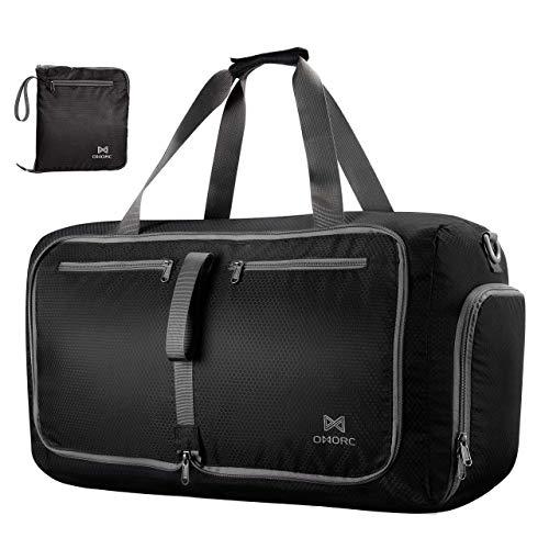 OMorc Duffel Bag Gym Bag Impermeable, Gran Capacidad 60L,Bolsa Plegables, Resistente al Agua con Correa de Hombro Extraíble...