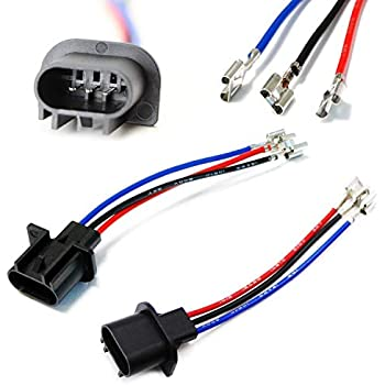 amazon com ijdmtoy (2) 9007 9004 to h13 9008 or h4 9003 polarity  ijdmtoy (2) h13 9008 to 9007 9004 or 9003 h4 polarity adjustable conversion adapter wiring kit for headlight conversion retrofit