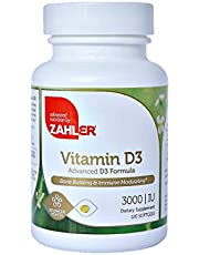 Zahler Vitamin D3 (Cholecalciferol) 3,000IU, An All-Natural Supplement Supporting Bone Muscle Teeth and Immune System , #1 Best Top Quality Vitamin D3 with High Absorption, Advanced Formula Targeting Vitamin D Deficiencies, Certified Kosher
