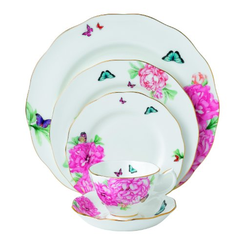 Royal Albert Friendship 5-Piece Place Setting Designed by Miranda Kerr (Floral Bone Dish)