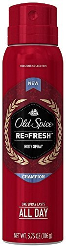 Price comparison product image Old Spice Red Zone Collection Re-Fresh Deodorant Body Spray, Champion 3.75 oz (Pack of 2)
