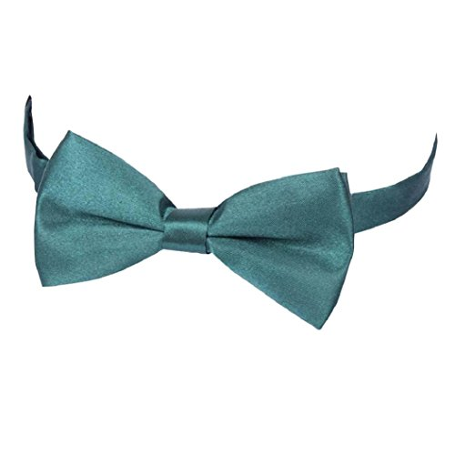 Tie Polyester Livecity Pre Tie Bow Men's Tied Wedding Fashion Bowtie Green Dark Suits Plain FqwPxIqS