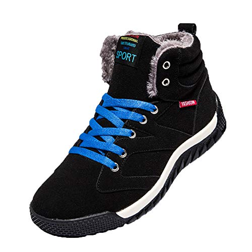 LIM&Shop ⭐ Snow Boot for Men Leather Ankle Winter Shoe Waterproof Hiking Boots Outdoor Anti Skid Sneaker with Fur Lining