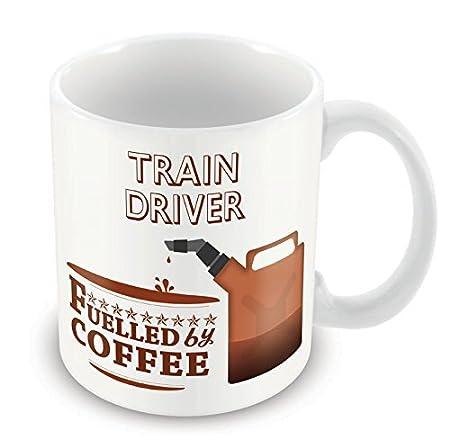 Train Driver FUELLED BY Coffee Mug Funny Gift Idea novelty