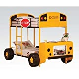 ACME Cathie Yellow and Black Twin over Twin Bunk Bed