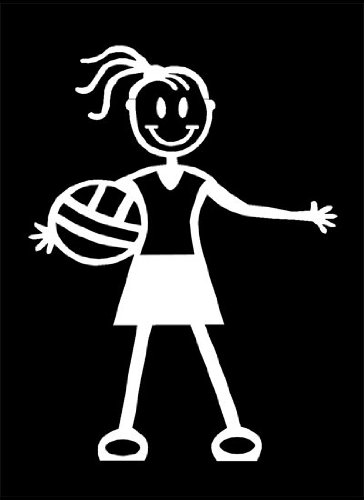 Official My Stick Figure Family Car Window Vinyl Sticker Girl Netball G1