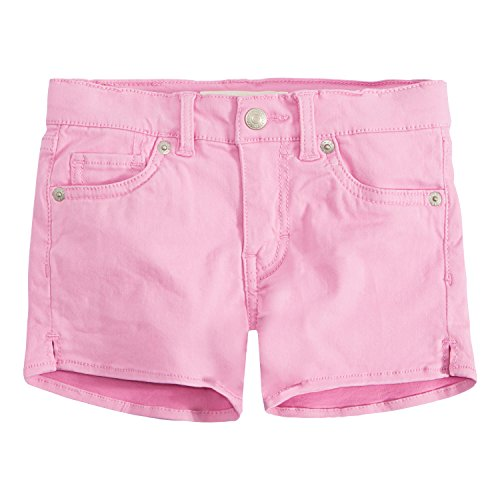 Levi's Girls' Big Soft Brushed Shorty Shorts, Fuchsia Pink, 12]()