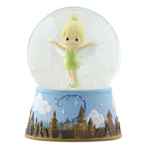 Precious Moments, Disney Showcase Collection, Tinker Bell Over London Skyline, Resin Musical Snow Globe, (Tinkerbell Items)