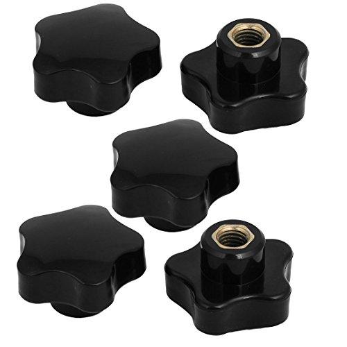 (uxcell M10 Female Thread 50mm Dia Bakelite Knobs Handle Machine Tool Black 5Pcs)