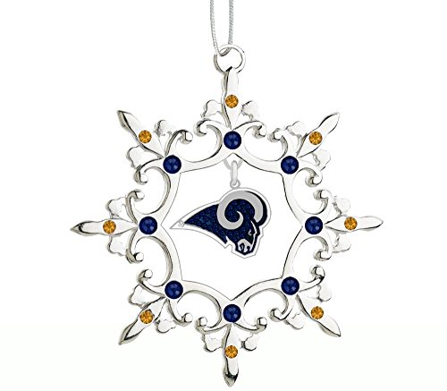 Final Touch Gifts St. Louis Rams Rhinestone Christmas Ornament