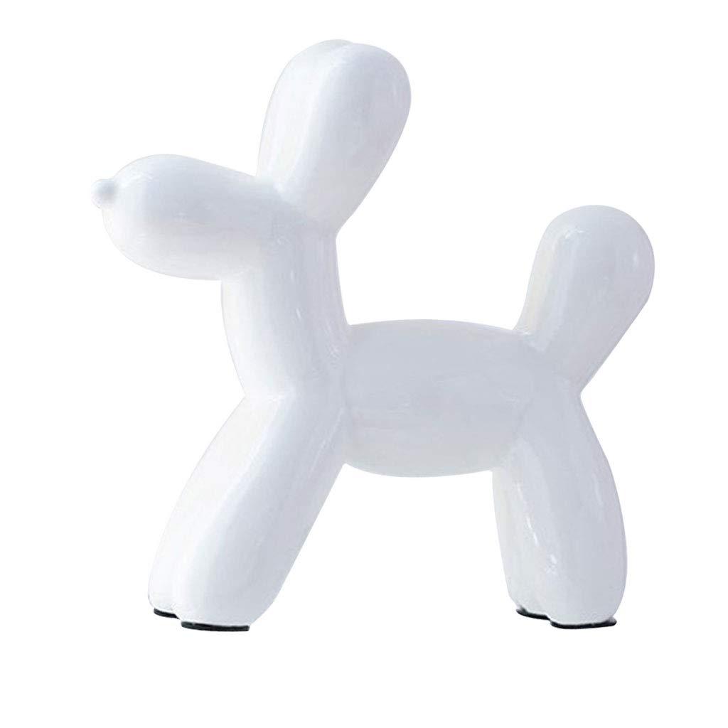 Gold Homyl Nordic Style Ceramic Balloon Dog Mini Animal Ornament Figurine for Living Room Office Bar Coffee Decoration