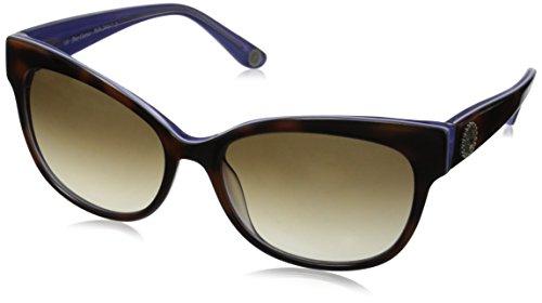 Juicy Couture Women's Ju577s Oval Sunglasses, Tortoise Violet Crystal/Brown Gradient, (Juicy Couture Prescription Sunglasses)
