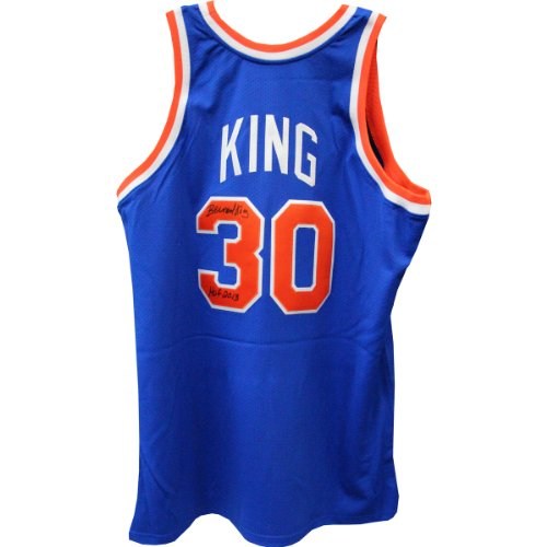 Bernard-King-New-York-Knicks-Autographed-Blue-Jersey-With-HOF-Hall-of-Fame-2013-Inscribed